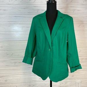 Lane Bryant size 16 Kelly green blazer